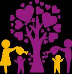 Eltern_mit_Kindern_giessen_Baum