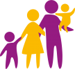 Eltern_mit_Kindern_lila_gelb
